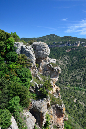 landforms: Siurana is a world-class climbing destination. There are steep yellow and grey walls, slabs, overhangs and other limestone landforms in the Prades mountains.