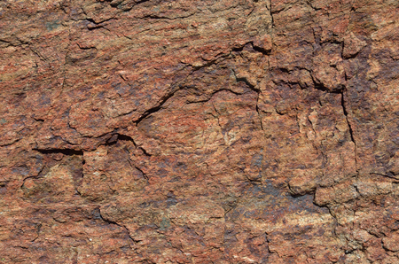 Surface of the calcareous rock is photographed closely. Stock Photo