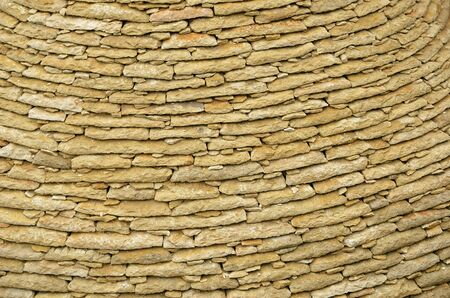 stonework: The stonework is made with the limestone flat tiles. This is the ancient method of masonry in the French region Aquitaine.