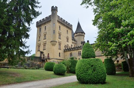 gothic revival: Chateau de Puymartin is a fine example of Renaissance architecture and Gothic Revival. This is a medieval French castle in the Dordogne department. Editorial