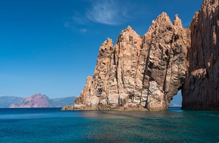 The coast of the Golfe de Porto is one of Corsican most famous landscapes.
