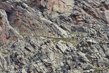 lithic: The steep slope with cracked and broken surface in the Corsican mountains Stock Photo