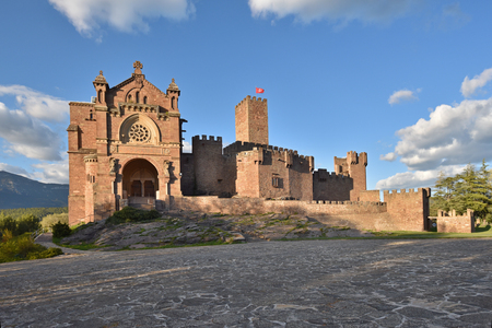 The ancient fortress is a destination of the popular pilgrimage Javierada. It is located on a hill in the Spanish region Navarra.