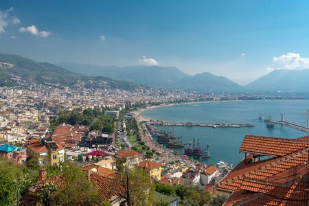 Turkish city Alanya situated in the cozy bay of the Mediterranean sea