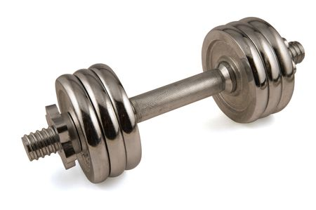 Metal dumb-bell for training of muscles