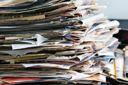 Pile of old newspapers ready for recycling Stock Photo - 4515547