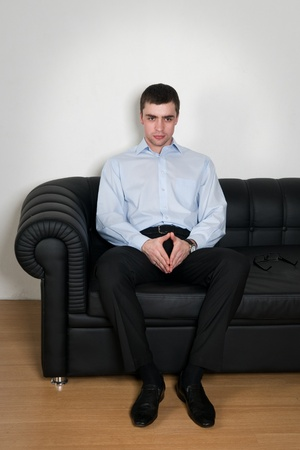 The young businessman solves problems Stock Photo - 8293607