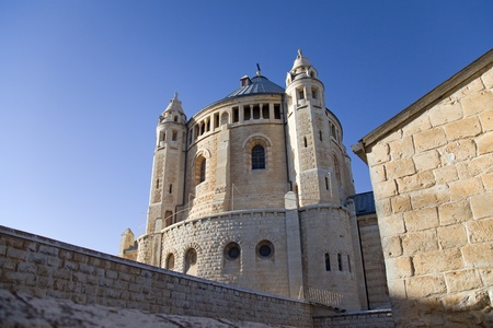 Located on Mount Zion, Jerusalem, Israel. It is a Benedictine Abbey also known as the Abbey of the Dormition of the Virgin Mary photo