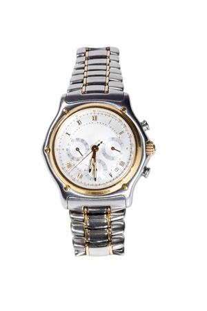 mans watch: detallada de la captura de un reloj cron�grafo de mans