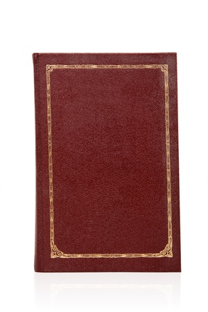 cover up: Big book of burgundy color isolated on white background