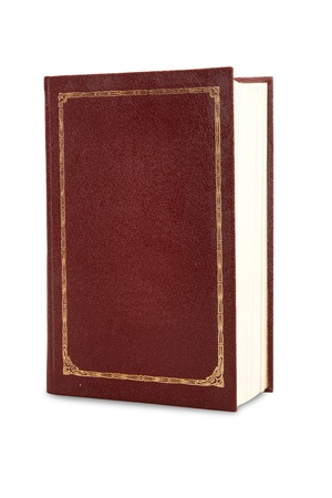 Big book of burgundy color isolated on white background photo