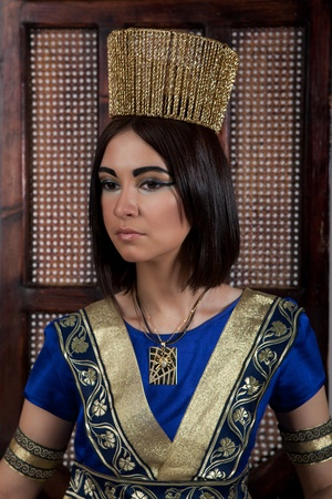 beautiful young woman in the image of Cleopatra photo
