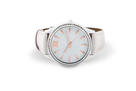 Women's watches with crystals isolated on a white background. Stock Photo - 13320647