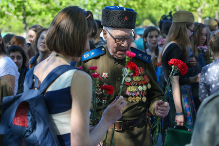 gorky: Holiday, Victory day in Moscow, Gorky Park, 9 may 2014