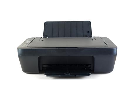 Black printer isolated on white background