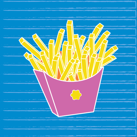 French fries. vector illustration Stock Vector - 116052744