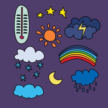 weather set. vector illustration
