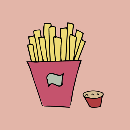 FRENCH FRIES. VECTOR