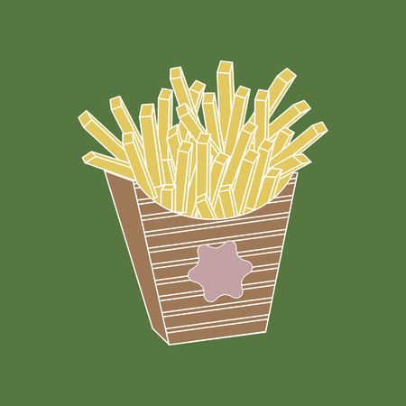 French fries. vector illustration