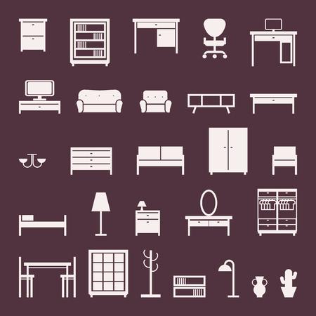furniture icons set. vector illustration Illustration