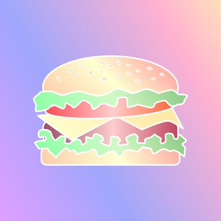 hamburger. vector illustration