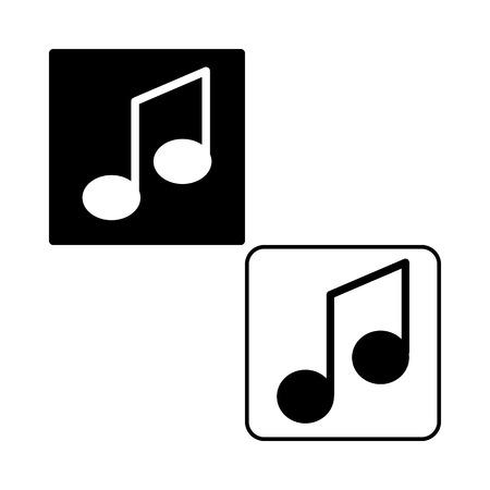 MUSIC NOTE ICON. VECTOR ILLUSTRATION Illustration