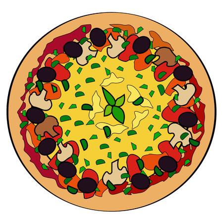 pizza. vector illustration Ilustração