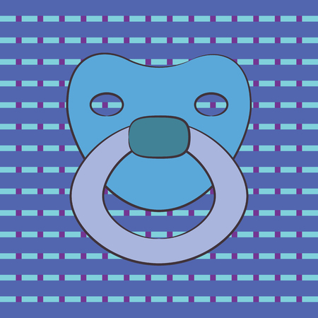 baby nipple. vector illustration
