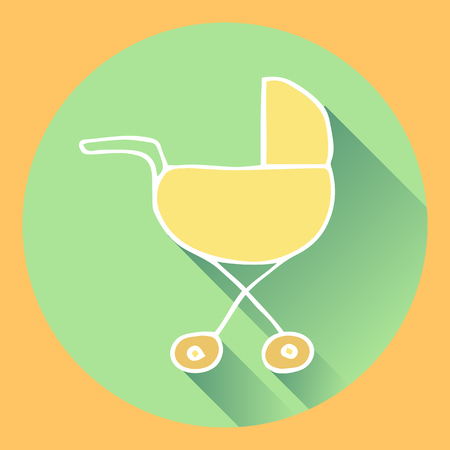pram. flat with shadows. vector