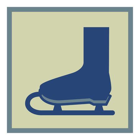 SKATES icon. VECTOR ILLUSTRATION Illustration