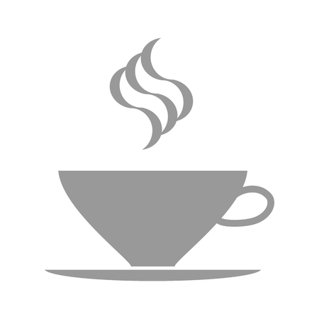 a cup of coffee. gray vector icon on white background