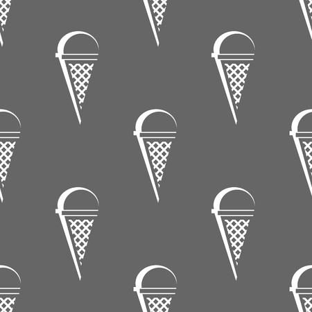 ice cream cone seamless pattern. vector illustration on gray background 일러스트