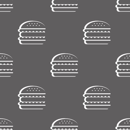 hamburger seamless pattern. vector illustration on gray background