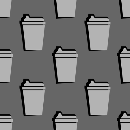 drink cup seamless pattern. vector illustration on gray background Illustration