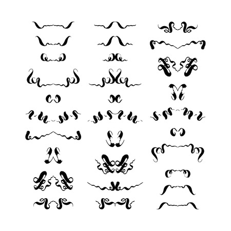 set of decorative hand-drawn elements. vector illustration on white background
