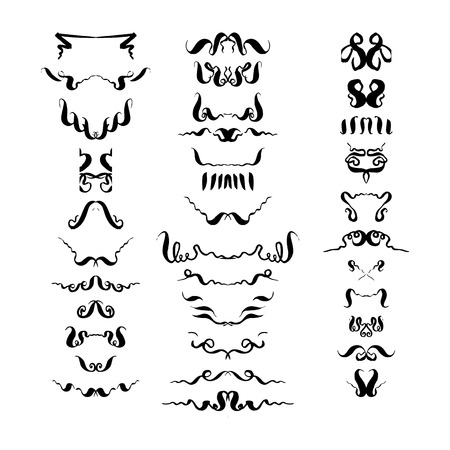 set of decorative elements. hand-drawn vector illustration on white background Stock Vector - 124683198