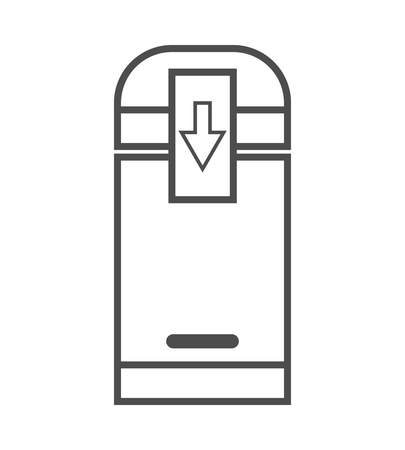 coffee grinder electric icon. vector outline illustration on white background