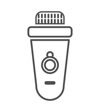 epilator icon. vector outline illustration on white background.