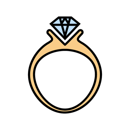 diamond ring icon. vector illustration on white background