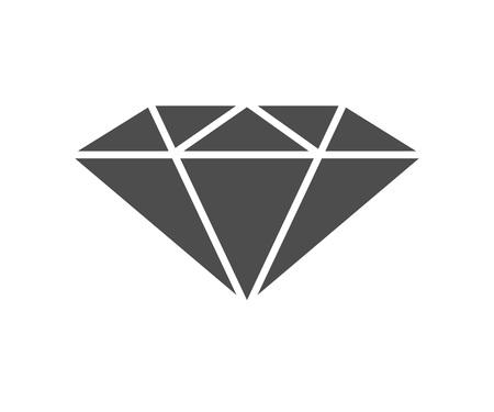 diamond icon. vector black and white illustration