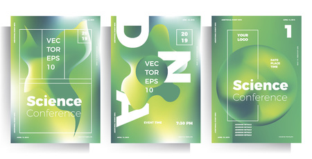 set of poster templates, flyers for events, conferences, seminars, exhibitions. modern multicolor vector illustration