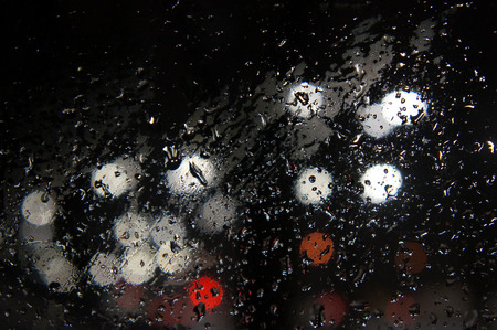 drops on glass background Stockfoto