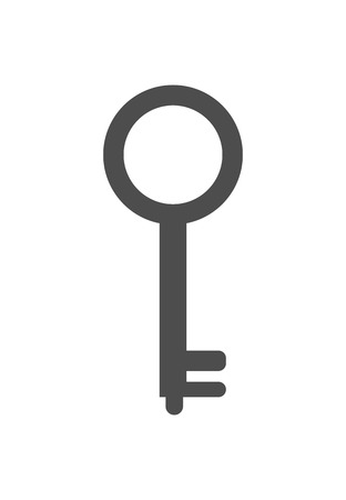 key icon. vector black and white illustration