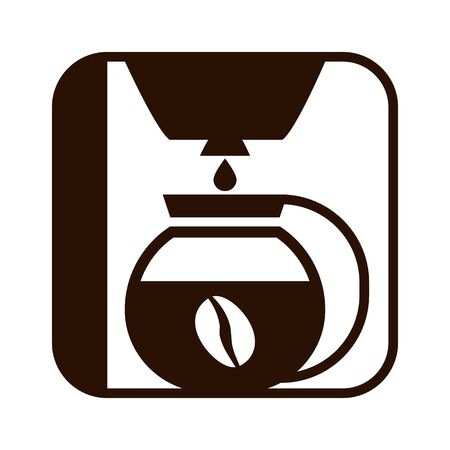 Coffee maker drip icon. Vector silhouette brown isolated illustration on white. Иллюстрация