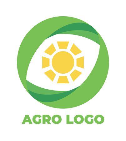 Logo template for agro company. Color vector isolated icon. Foto de archivo - 134544127
