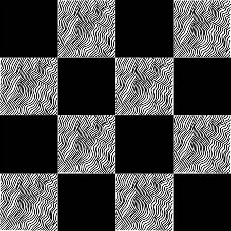 Chess seamless pattern. Monochrome vector illustration with hand drawn graphic elements. Vektorgrafik