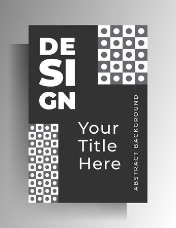 Cover template design for book, magazine, booklet, catalog, brochure, textbook. Geometric monochrome vector illustration.