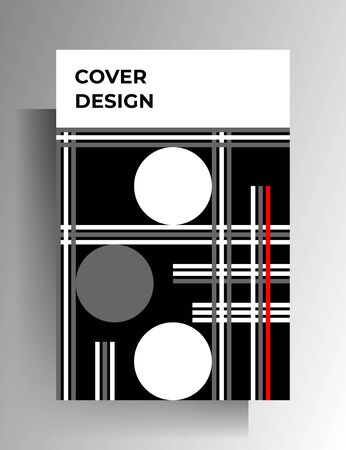 Cover template design. Geometric strict pattern. Vector 10 EPS. Illusztráció