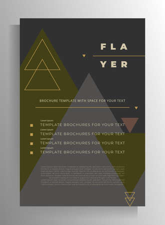Flyer, brochure, catalog, booklet, folder design. Vector template for your text with geometric pattern in pastel colors.