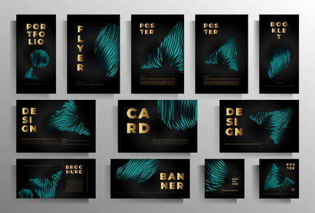 Design of covers for a book, magazine, booklet, catalog, poster. A large collection of stylish templates. Vector illustration. Standard-Bild